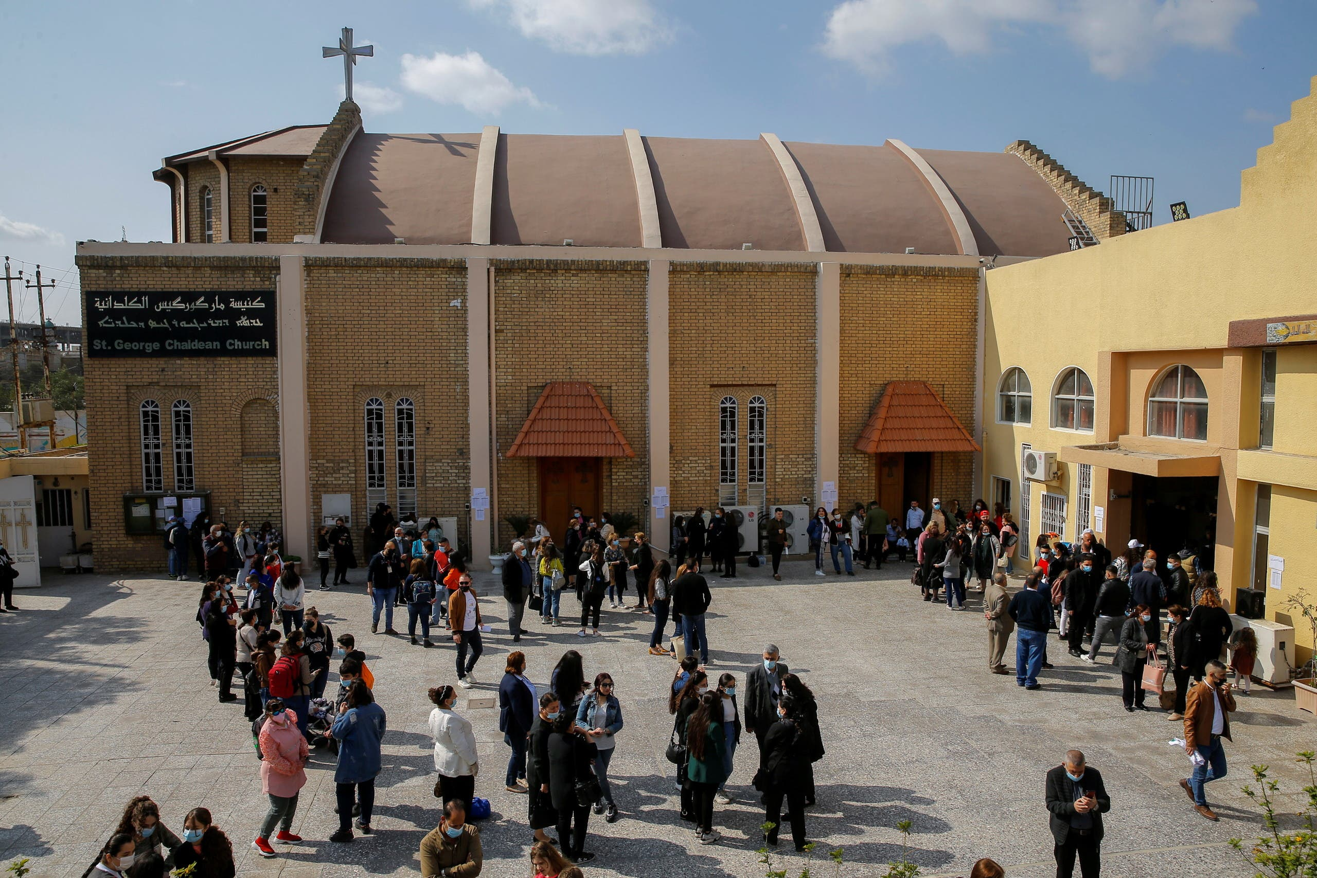 عراقيون ينتظرون وصول البابا (فرانس برس)