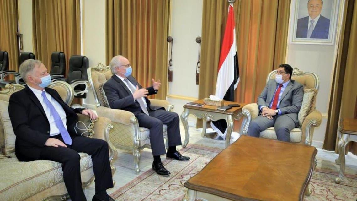 وزير الخارجية اليمني يلتقي المبعوث الأميركي لليمن