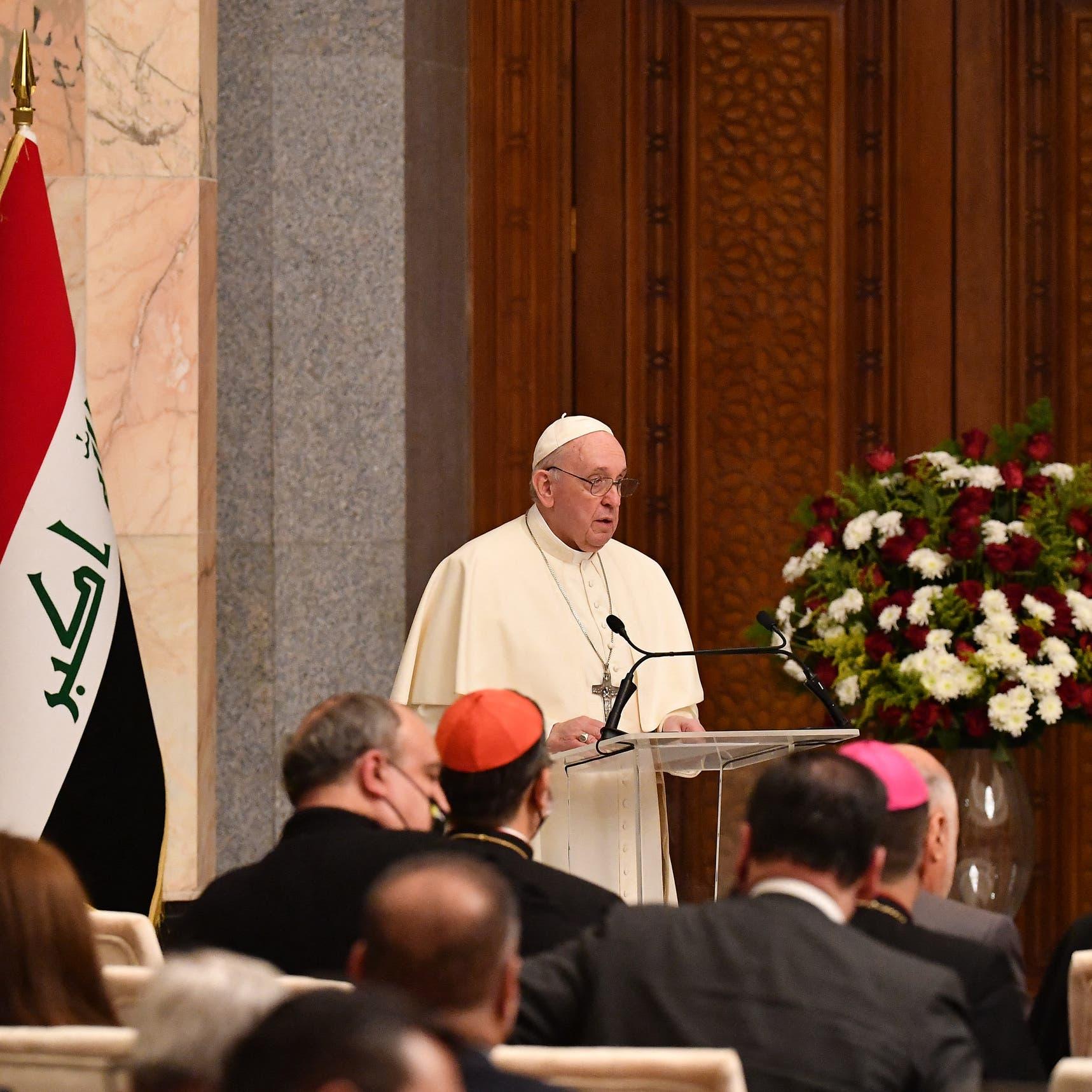 البابا من قلب بغداد: كفى عنفاً وفساداً ولتصمت الأسلحة