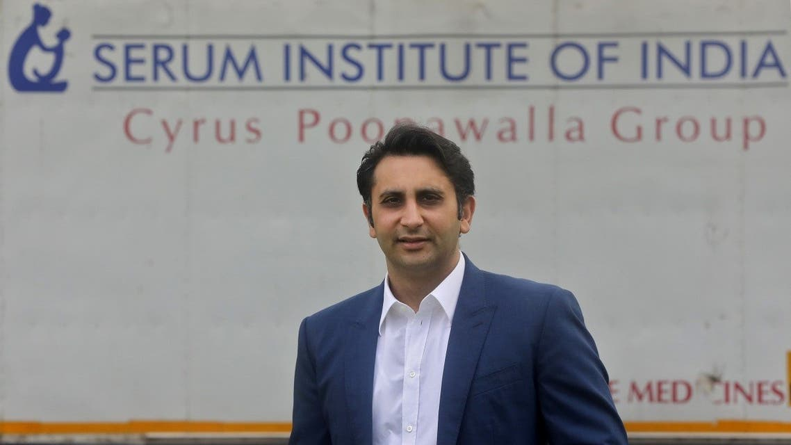 Adar Poonawalla, Chief Executive Officer (CEO) of the Serum Institute of India poses for a picture at the Serum Institute of India, Pune, India. (Reuters)