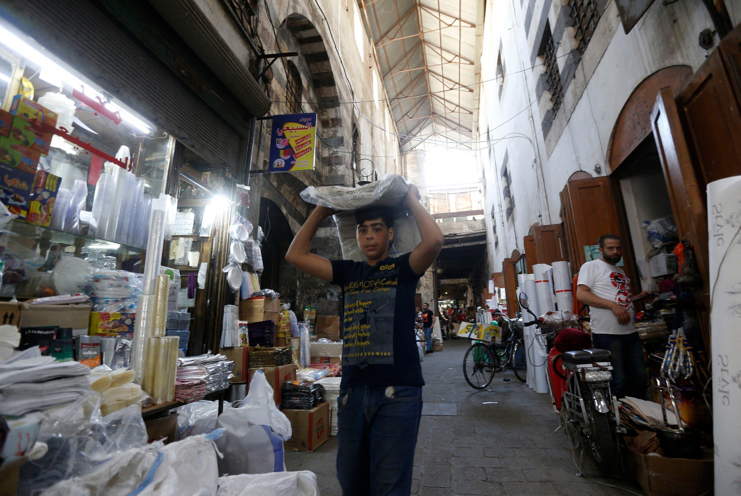 شام: دمشق کا ایک بازار
