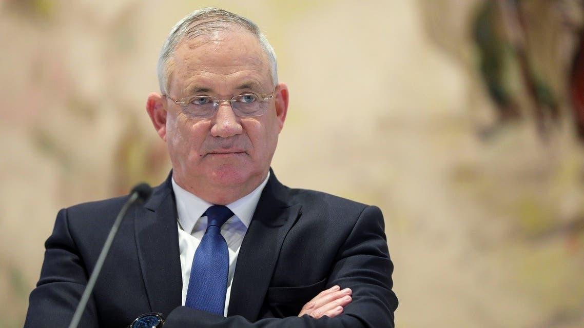 Israeli Defense Minister Benny Gantz attends a cabinet meeting in Jerusalem May 24, 2020. (Reuters)