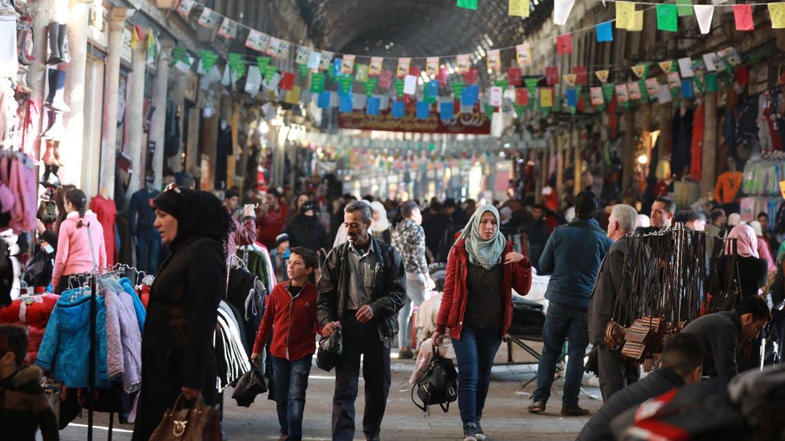 أحد أسواق دمشق (فرانس برس)