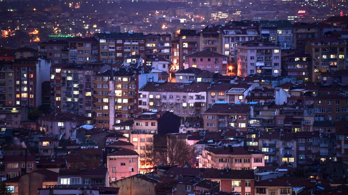This picture taken on December 4, 2017 shows a general view of the Kasimpasa district during a cloudy evening in Istanbul, Turkey. (File photo: AFP)