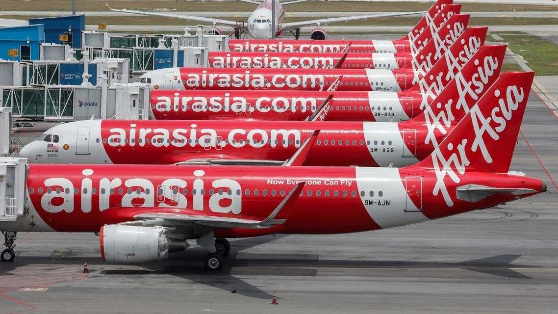 AirAsia planes are seen parked at Kuala Lumpur International Airport 2, during the movement control order due to the outbreak of the coronavirus, in Sepang, Malaysia April 14, 2020. (Reuters/Lim Huey Teng)