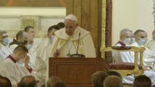 Pope Francis holds first public mass of Iraq trip in Baghdad's St. Joseph church