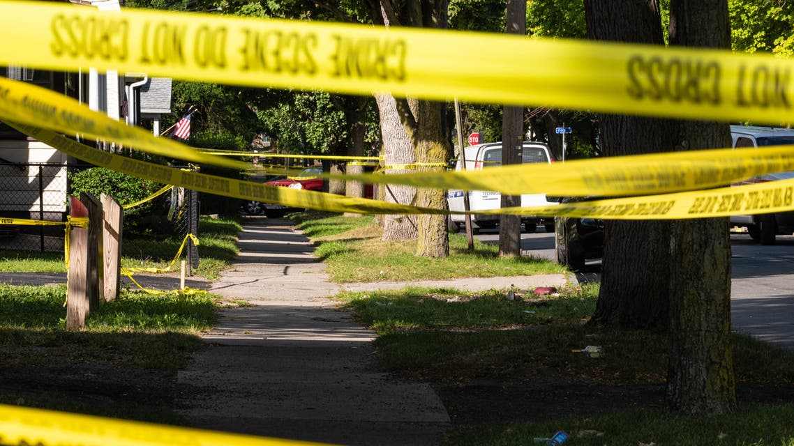 ROCHESTER, NY - SEPTEMBER 19: Police tape lines a crime scene after a shooting at a backyard party on September 19, 2020, Rochester, New York. Two young adults - a man and a woman - were reportedly killed, and 14 people were injured in the shooting early Saturday morning on the 200th block of Pennsylvania Avenue, located in the city's Marketview Heights neighborhood. Police say several dozen shots were fired. (File photo: AFP)