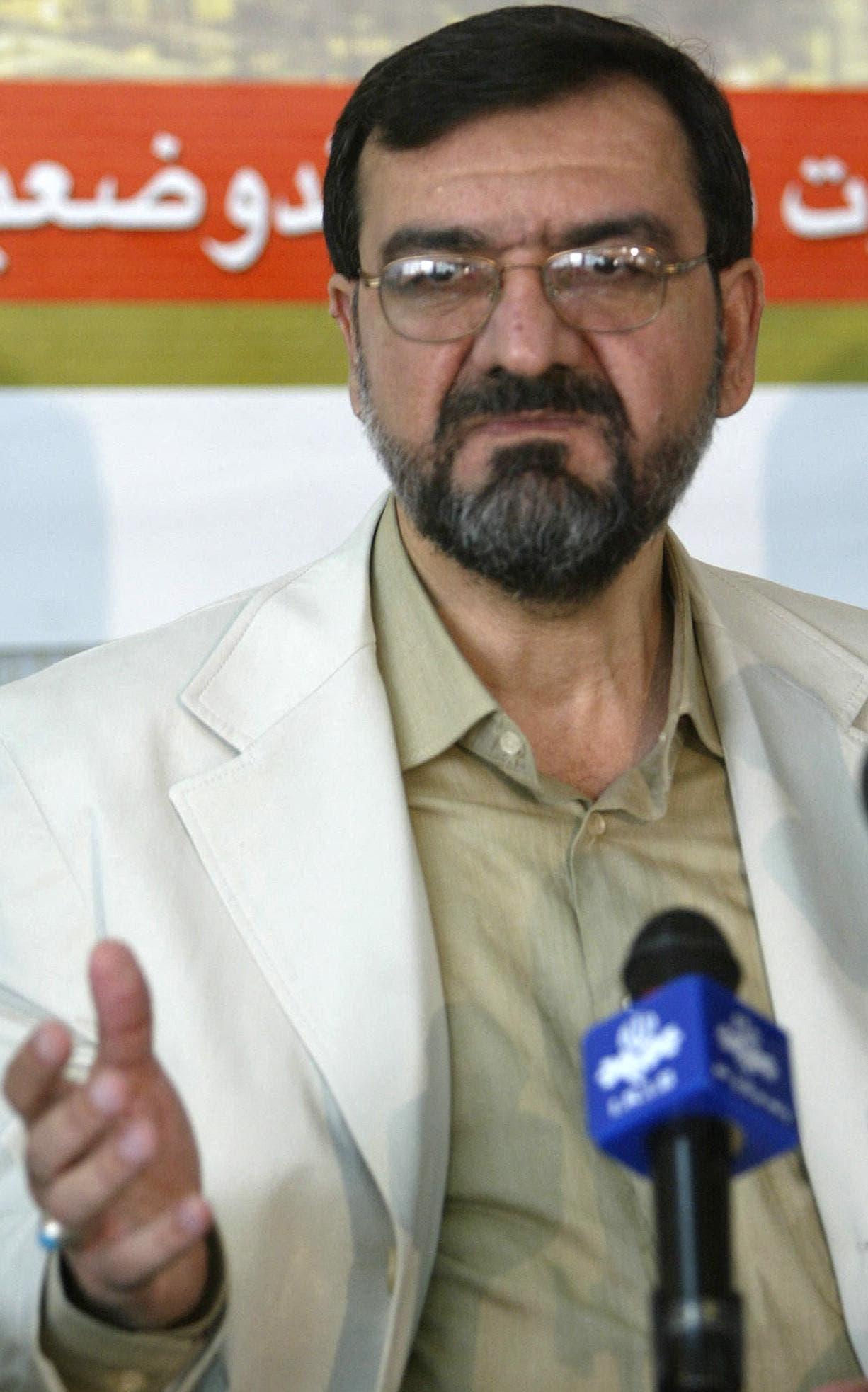 سكرتير تشخيص مصلحة النظام في إيران، محسن رضائي (أرشيفية- فرانس برس)