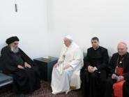 لأول مرة في العراق.. البابا يلتقي السيستاني
