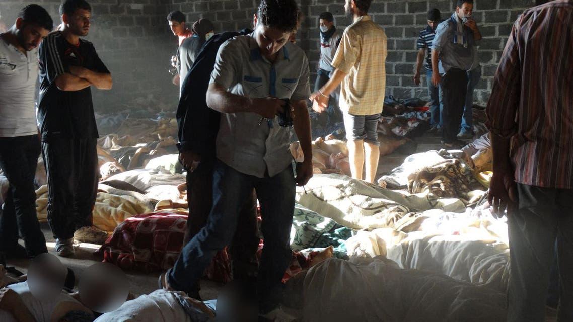 ضحايا مجاز الأسد الكيماوية