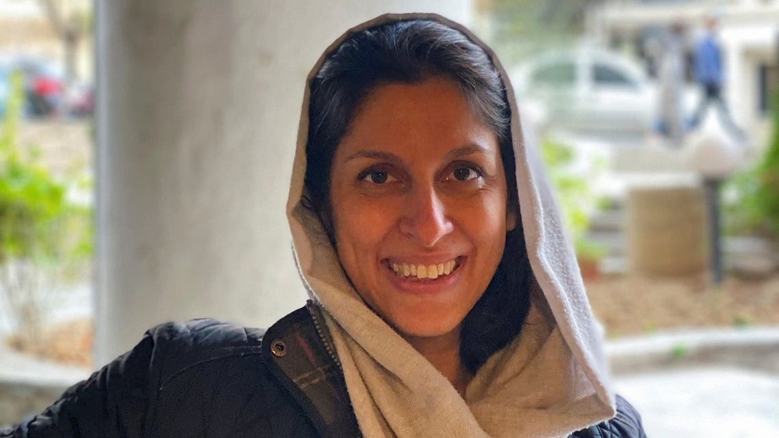 British-Iranian aid worker, Nazanin Zaghari-Ratcliffe, poses for a photo after she was released from house arrest in Tehran, Iran March 7, 2021. (Zaghari family/WANA/Handout via Reuters)