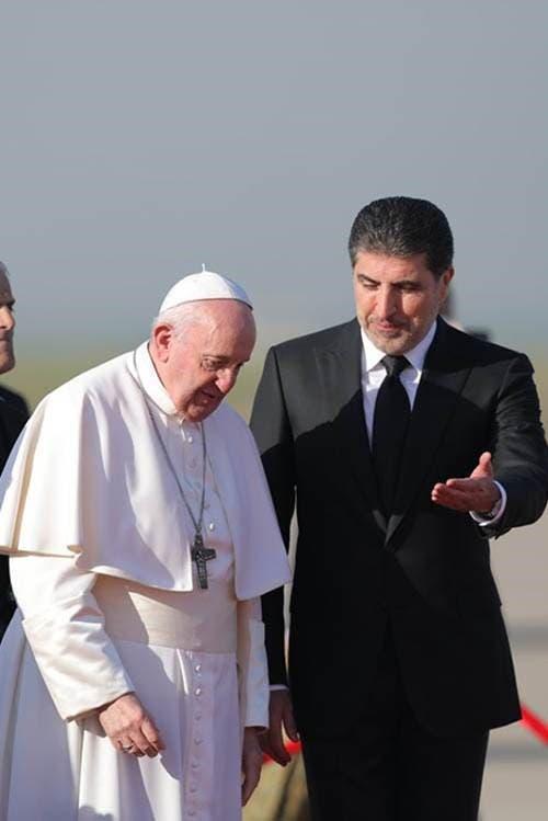 نیچروان بارزانی و پاپ فرانسیس در اربیل