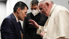 Pope Francis meets father of drowned Syrian boy Alan Kurdi in Iraq's Erbil