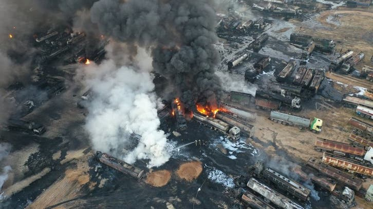 Suspected missile attack on Syria oil facility sparks massive blaze: Aerial images