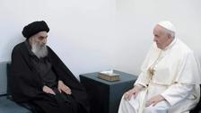 پوپ فرانسیس سیستانی سے ملاقات پر ایران جھنجھلاہٹ کا شکار