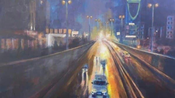 """بالصور.. لوحات """"ضبابية"""" تجسد مشاهد من مدن السعودية"""