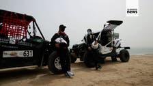 First Saudi female drivers race in rally