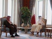 وزير خارجية السعودية يلتقي أمير قطر ويبحث معه مستجدات المنطقة