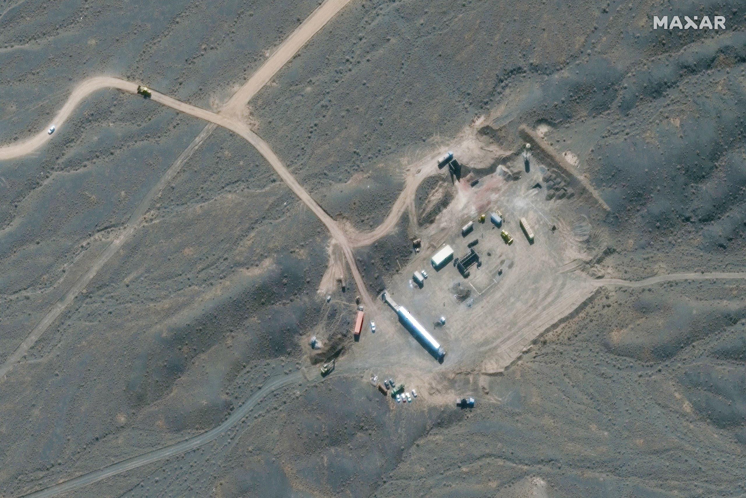 صورة بالأقمار الصناعية لمنشأة نطنز