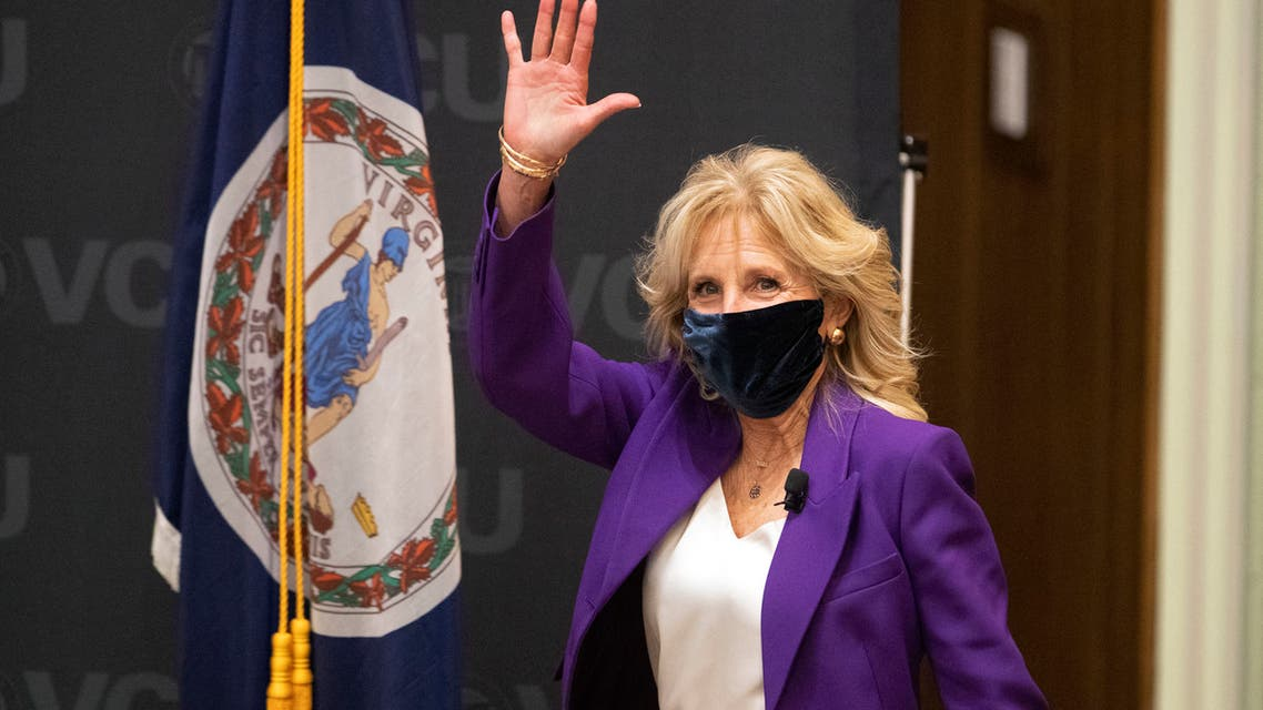 US First Lady Jill Biden is introduced before a panel discussion on cancer research and care at the Massey Cancer Center at Virginia Commonwealth University in Richmond, Virginia on February 24, 2021. (File photo: AFP)