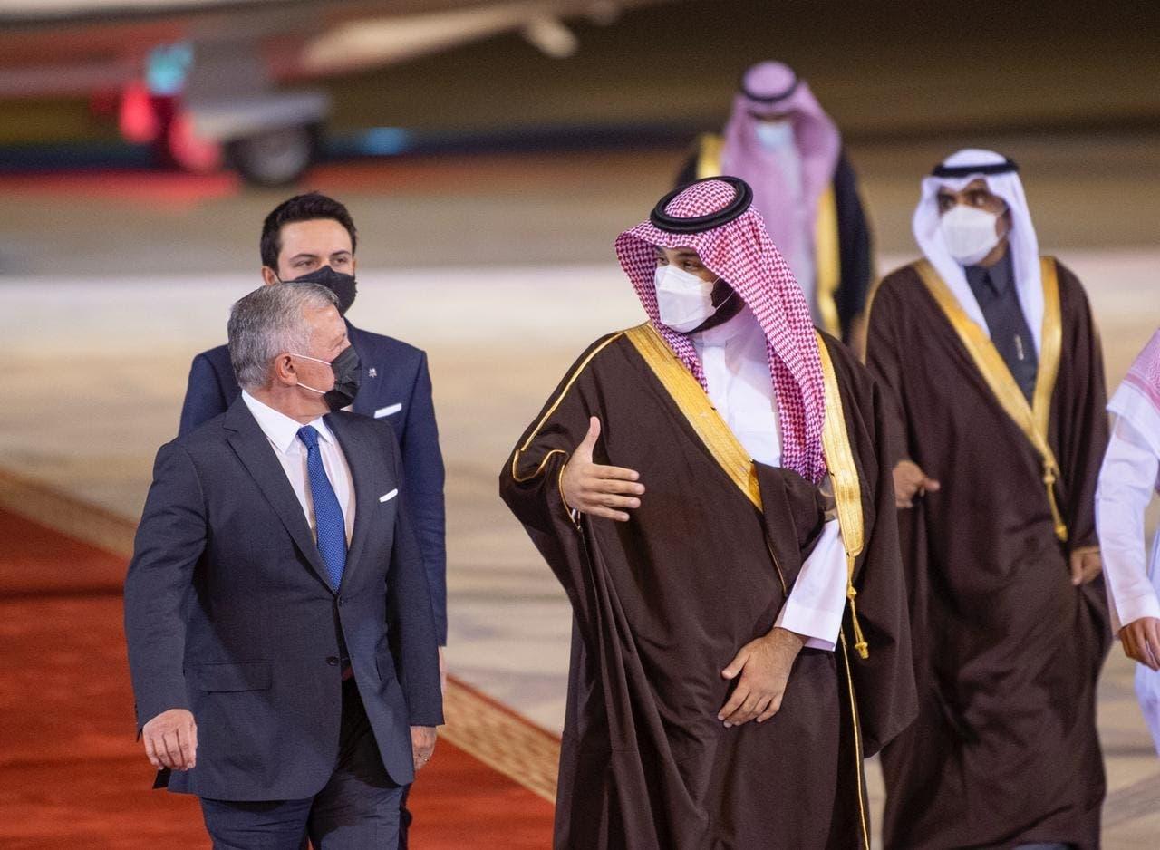 الأمير محمد بن سلمان يستقبل العاهل الأردني