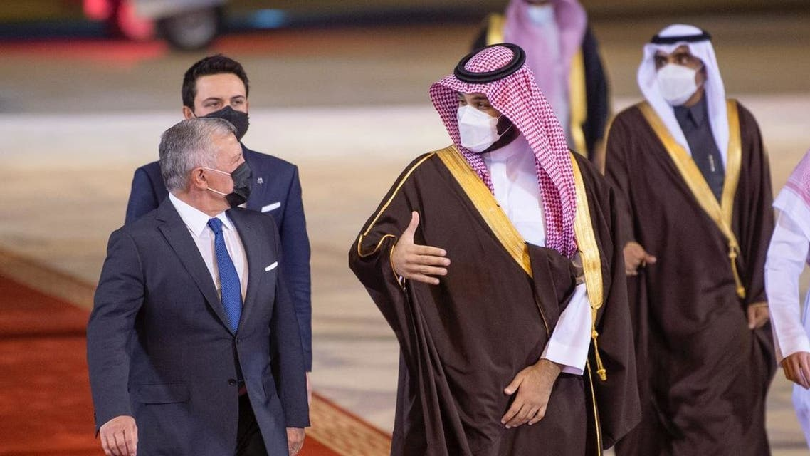 Saudi Crown Prince receives Jordan's King Abdulla in Riyadh