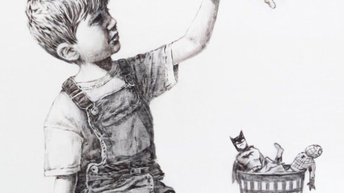 Banksy's latest pandemic inspired painting, 'Gamechanger'. (Twitter)