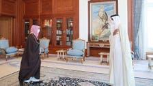 وزير الخارجية السعودي يبحث مع أمير قطر العلاقات الثنائية