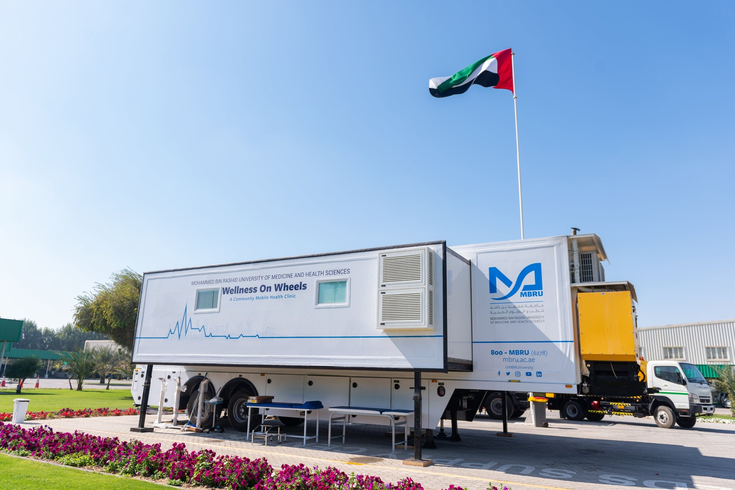 Wellness on Wheels mobile vaccination clinics in Dubai, UAE. (Twitter)