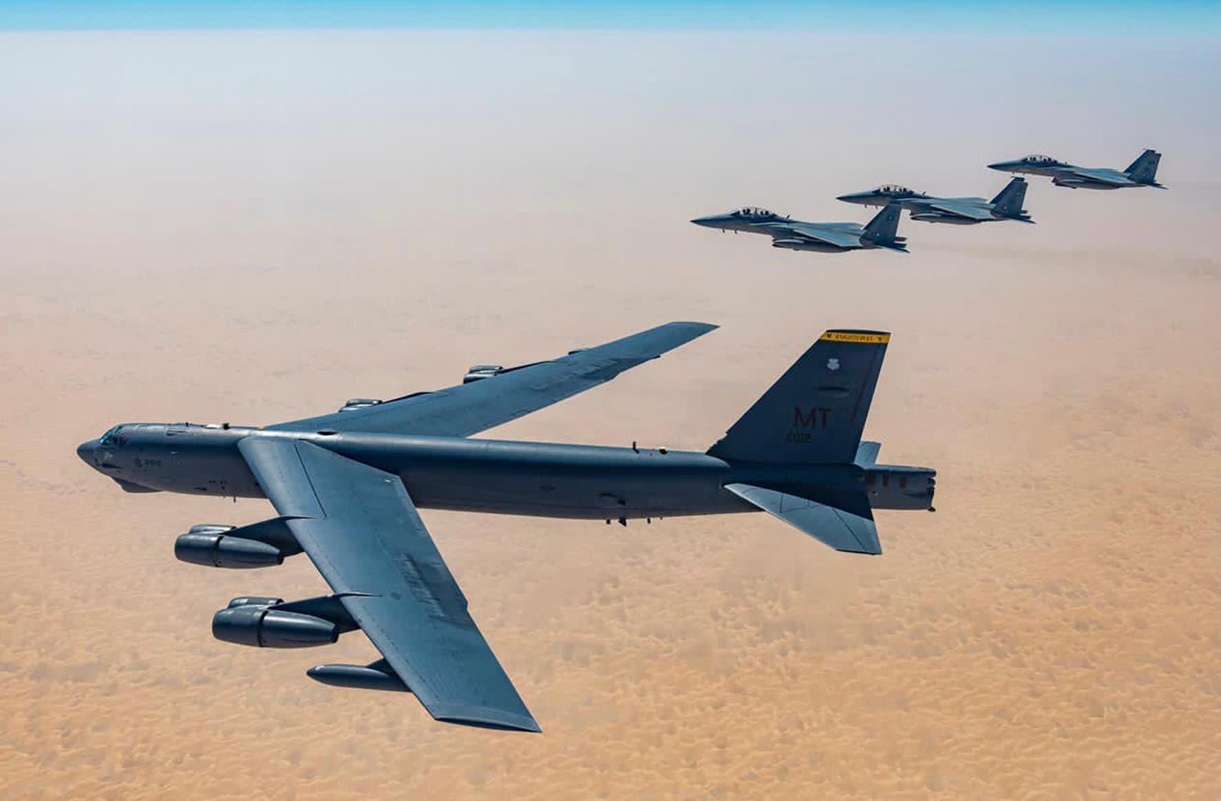 Joint exercises between the Saudi fighters and the two American B-52 bombers