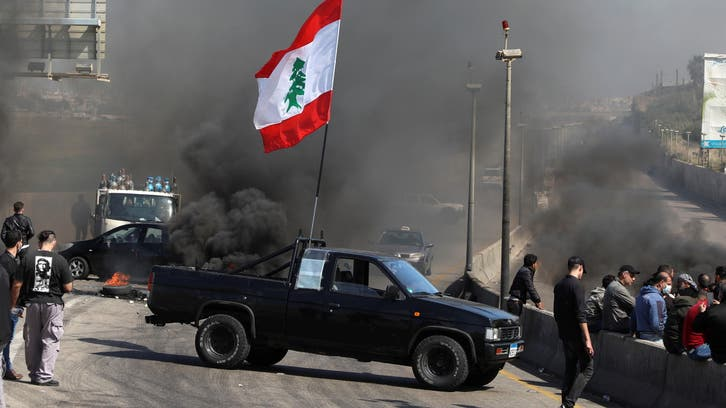 Lebanon army starts clearing roadblocks after eight days of protests