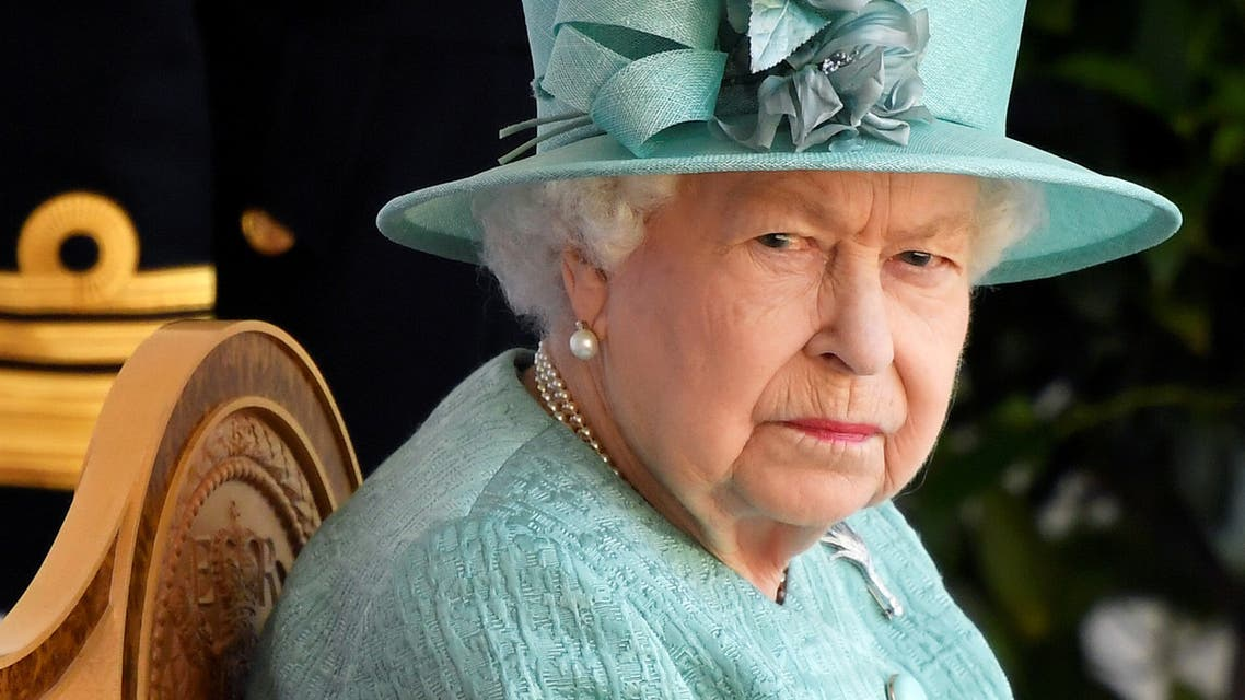 Britain's Queen Elizabeth attends a ceremony to mark her official birthday at Windsor Castle in Windsor, Britain, June 13, 2020. (Reuters)