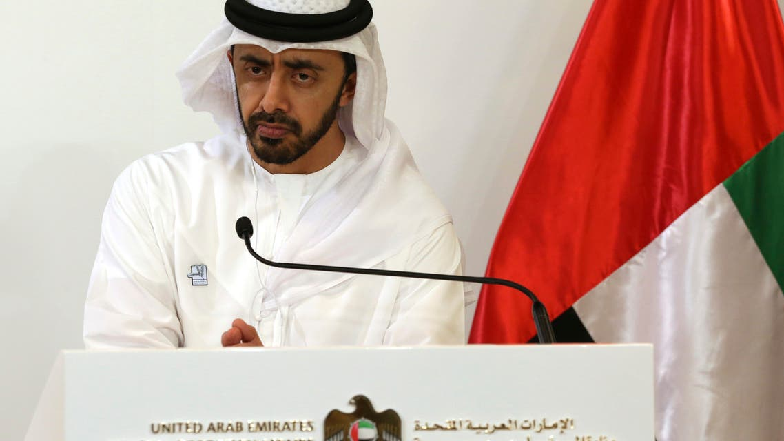 Foreign Minister of the United Arab Emirates, Sheikh Abdullah bin Zayed Al Nahyan. (File photo: AP)