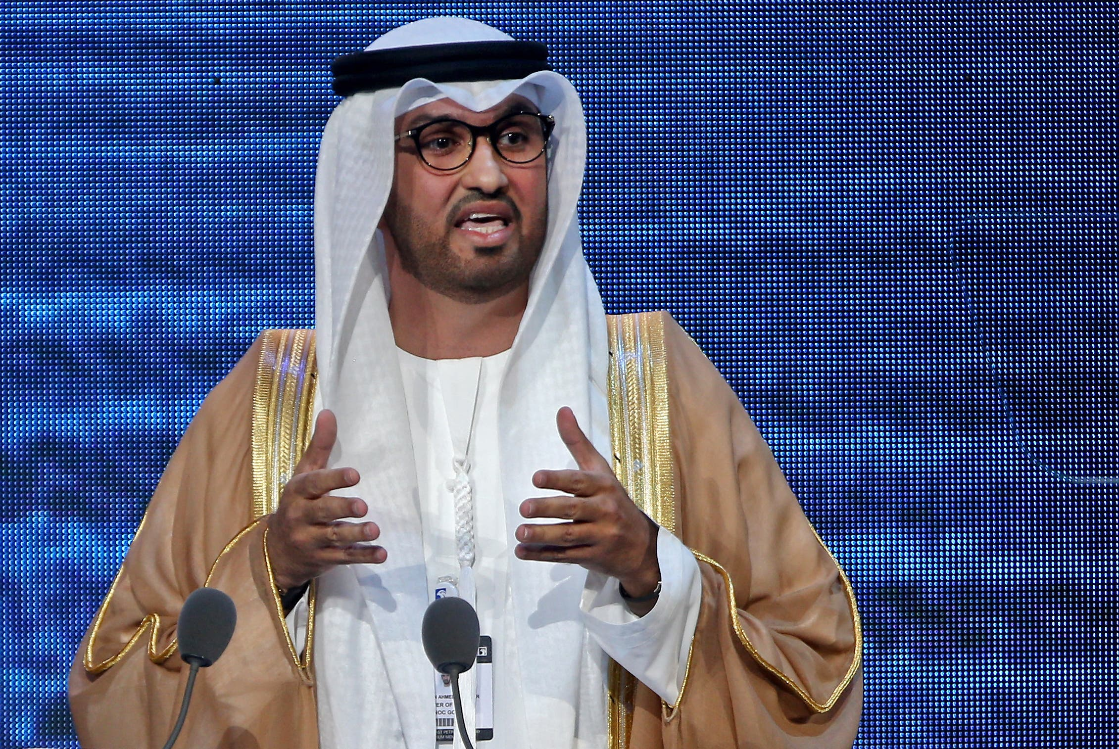 Sultan Ahmed Al-Jaber, of the Abu Dhabi National Oil Company (ADNOC), was named second in the list. (File photo: AFP)