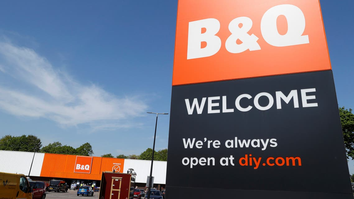 General view of a B&Q DIY store, as the spread of the coronavirus disease (COVID-19) continues, in Chiswick, London, Britain, April 23, 2020. (Reuters)
