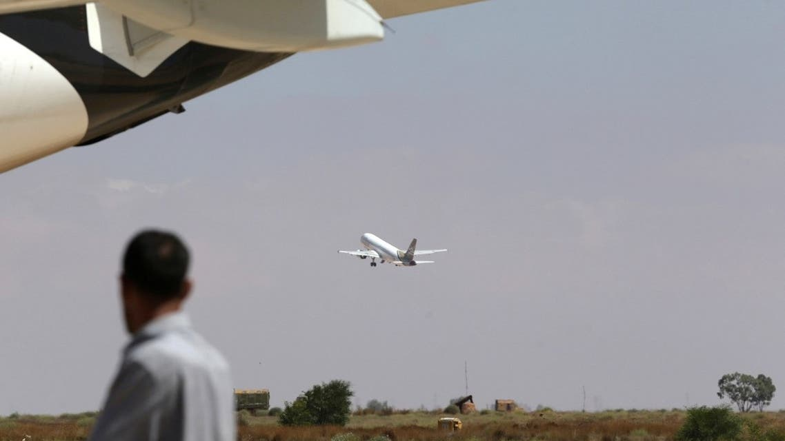 A plane takes off at Benina airport east of Benghazi, Libya, July 15, 2017. (Reuters/Esam Omran Al-Fetori)