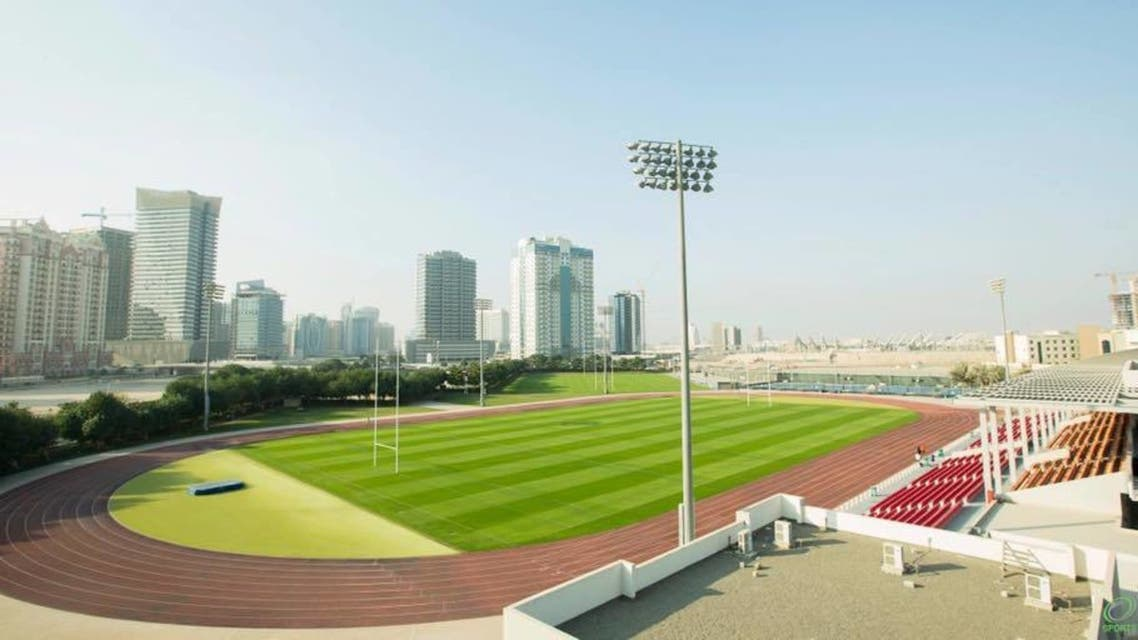 One of the Rugby pitches at Dubai Sports City, where the match will be held. (Dubai Sports City via Facebook)