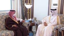 Saudi top diplomat meets Qatari Emir in Doha