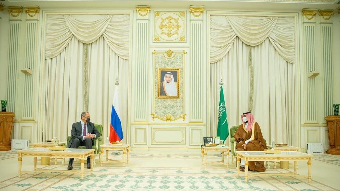 محمد بن سلمان ووزير خارجية روسيا