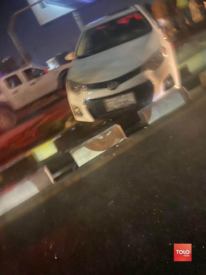 خودروی سفارت ایران که مورد تیراندای واقع شده