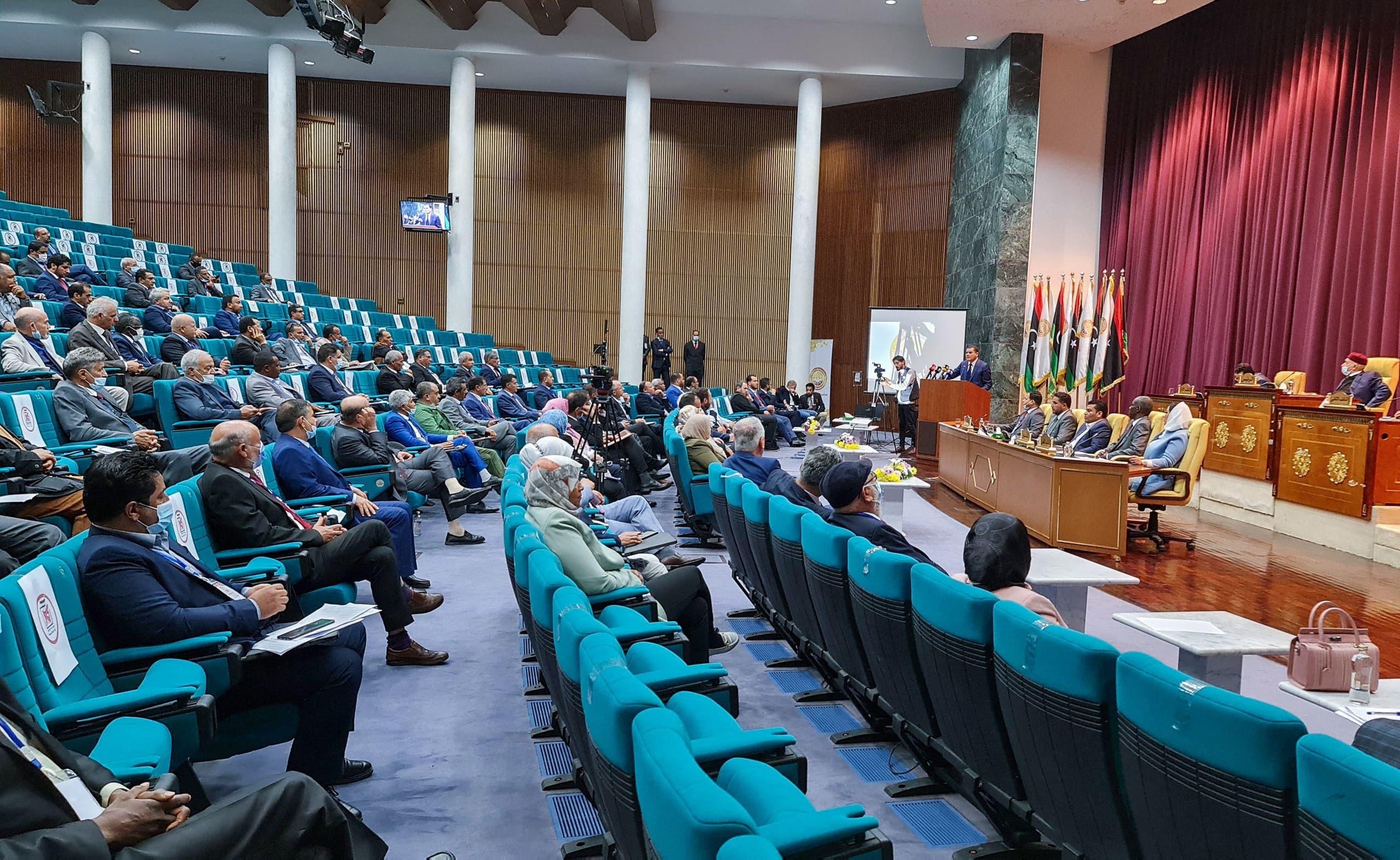 من جلسة للبرلمان الليبي في سرت (أرشيفية- فرانس برس)