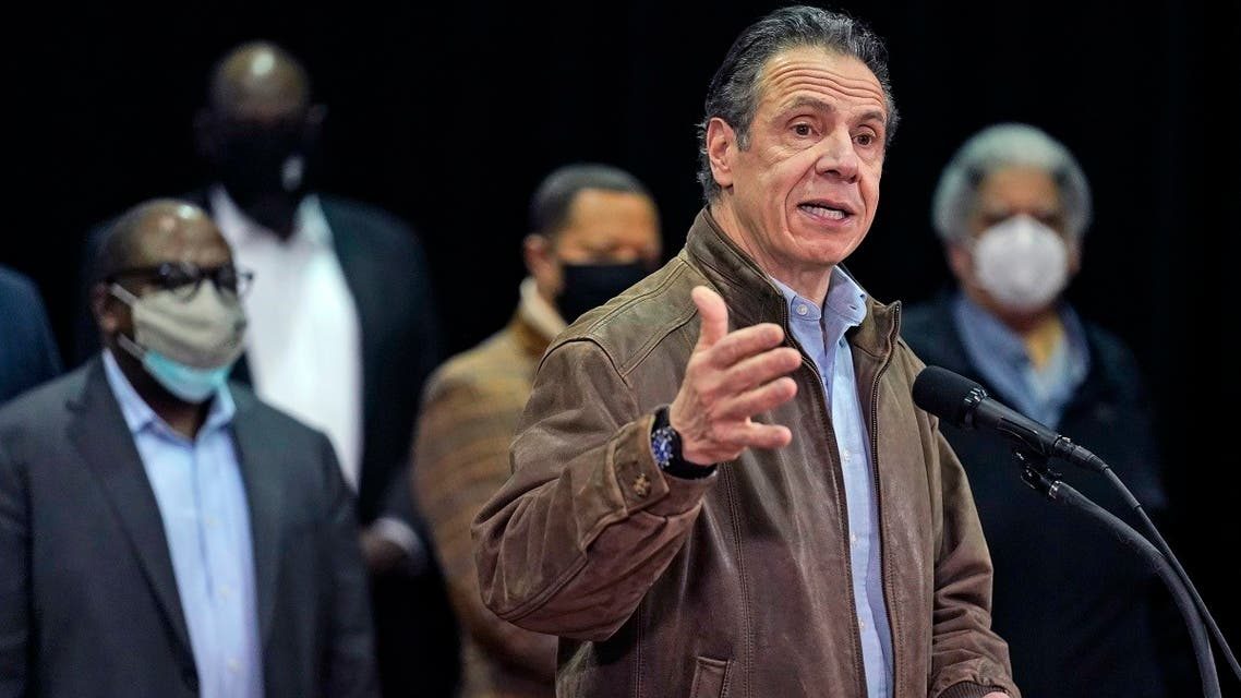 New York Gov. Andrew Cuomo speaks during a press conference, Feb. 24, 2021. (AP)