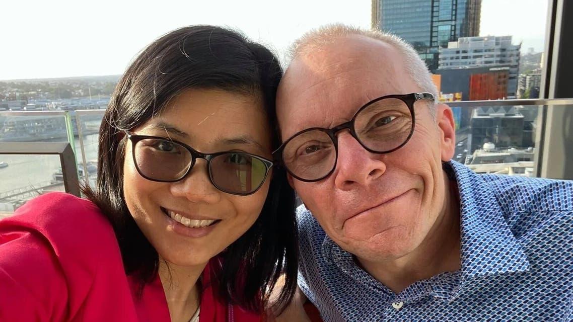 Australian economist Sean Turnell with wife Ha Vu. (Facebook)