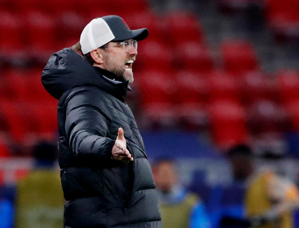 Liverpool manager Juergen Klopp reacts. (Reuters)