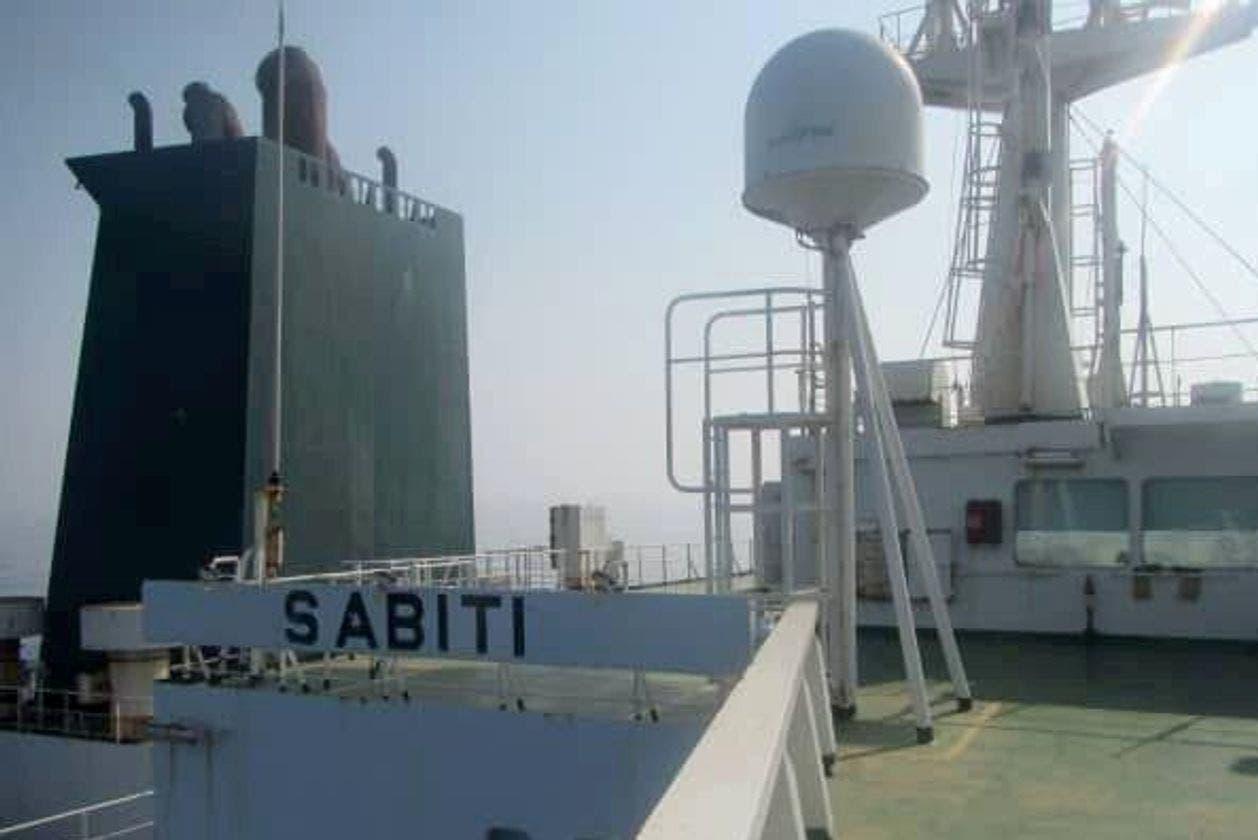 نقصان زدہ ایرانی تیل بردار جہاز