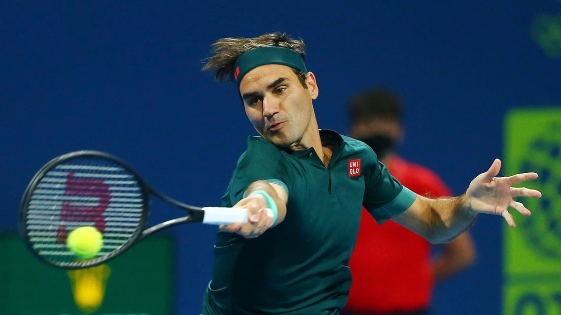 Switzerland's Roger Federer in action during his first round match against Great Britain's Dan Evans Tennis Federation. (Reuters)