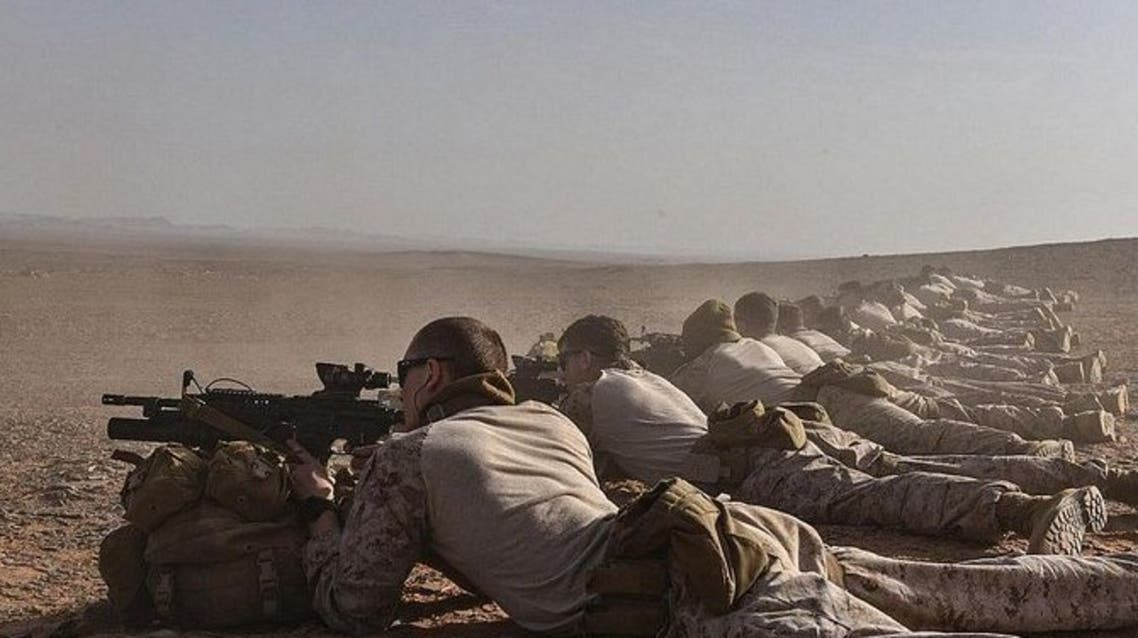 Saudi and US ground forces taking part in Falcon Claw's 2 exercise in December 2020, Saudi Arabia. (File photo: SPA)