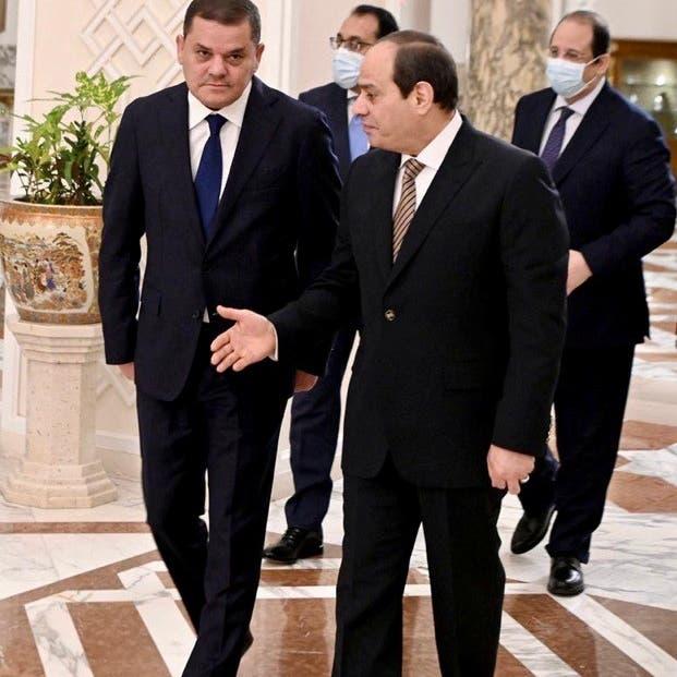 السيسي للدبيبة: عودة الاستقرار إلى ليبيا أولوية مصر
