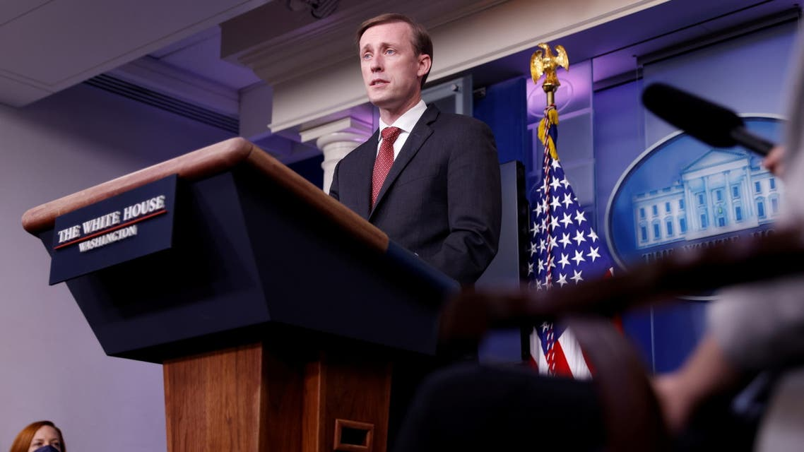 White House National Security Advisor Jake Sullivan delivers remarks during a press briefing at the White House in Washington, U.S., March 12, 2021. REUTERS/Tom Brenner