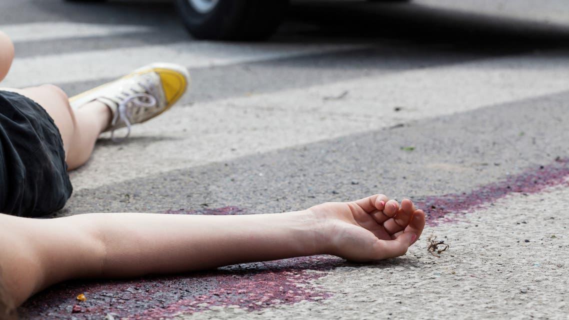 جثة شارع تعبيرية انتحار